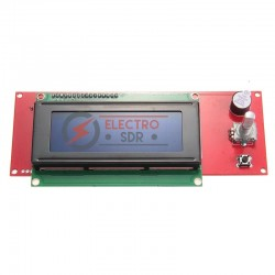 Smart Controller Display LCD 2004 (incluye cables) impresora 3D reprap prusa mendel