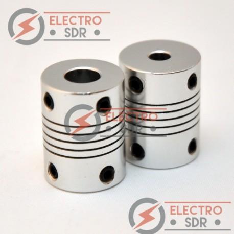 Pareja acoples flexibles 5 mm - 8 mm Aluminio