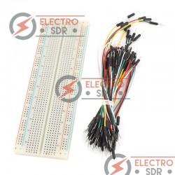 Breadboard MB-102 + 65 Jumper Wires