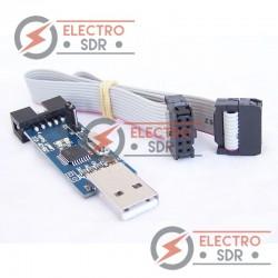 Adaptador USB USBasp ISP Programador con Cable para ATMega8 AVRDude Atmel AVR