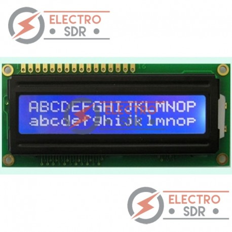 LCD 1602 HD44780 Backlight azul / Caracteres blancos