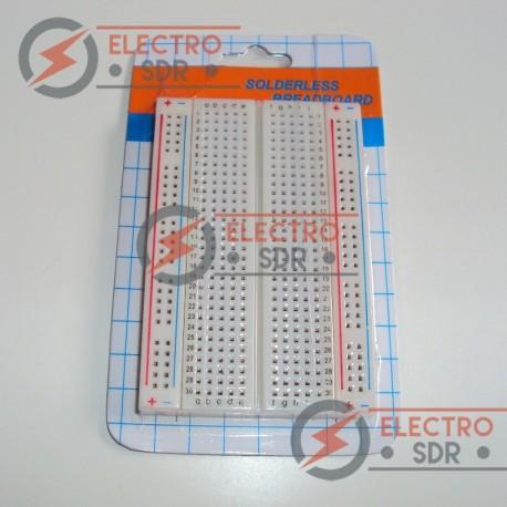 Protoboard 400 puntos blanca para prototipado Arduino electronica