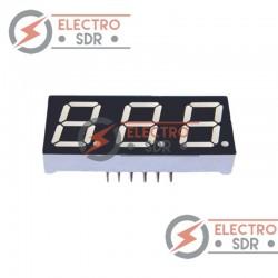 Display Led 7 segmentos 3 digito 57mm - Arduino y prototipos