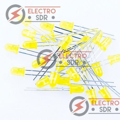 50x Diodos LED 5mm Color AMARILLO