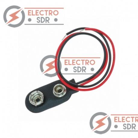 Conector para pila de 9v alimentación terminal cable