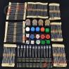 Pack Electronica 1 para arduino, resistencias, pulsadores, leds y potenciometros