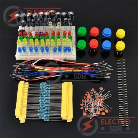 Kit Componentes Electrónicos para Arduino UNO, Mega...