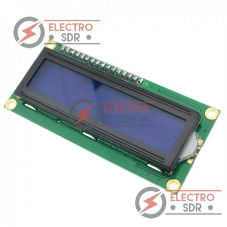 Display LCD 1602 retroilumnido AZUL con módulo IIC/I2C