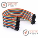 40 Cables Dupont Hembra-Hembra Jumpers para Arduino, PIC, protoboard