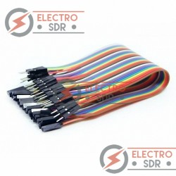 40 Cables Dupont Macho-Hembra Jumpers para Arduino, PIC, protoboard