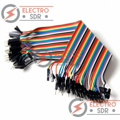 40 Cables Dupont Macho-Macho Jumpers para Arduino, PIC, protoboard