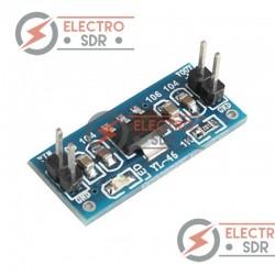 Módulo con fuente de alimentación AMS1117-3.3V fija regulada. Entrada 4.5 ~ 7v, salida 3.3v. Compatible con arduino.