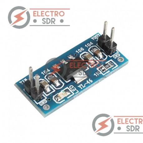 Módulo con fuente de alimentación AMS1117-5.0V fija regulada. Entrada 6.0 ~ 12v, salida 5v. Compatible con arduino.