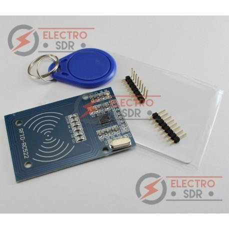 Kit RFID MIFARE RC522 (Lector + Tarjeta + Llavero) para Arduino, PIC, ARM...