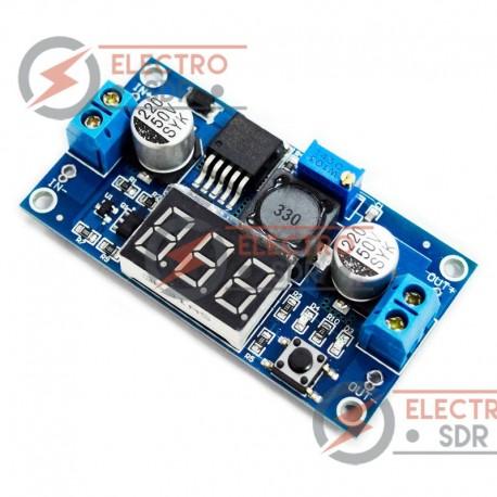 Módulo LM2596 con display - Regulador de tensión ajustable con voltimetro