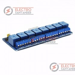 Shield 8 relés 8 canales 5V arduino uno mega automatismos