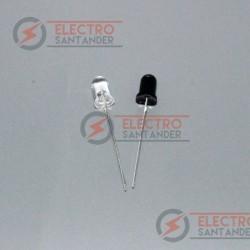 Pack Diodo Emisor + Diodo Receptor IR 940 nm 5 mm