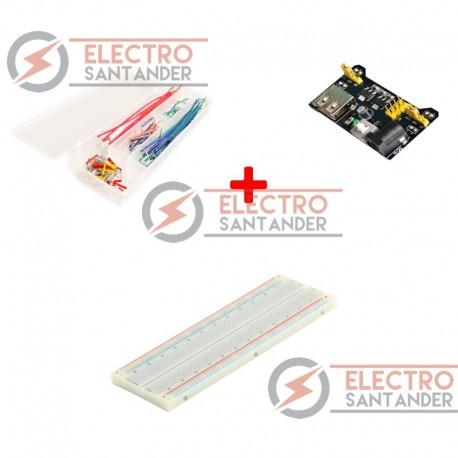 Kit Protoboard 830 puntos + Fuente de alimentación + 140 Jumper Wires