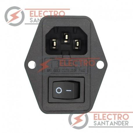 Enchufe de corriente 3 en 1 - Conector C14 con interruptor y fusible